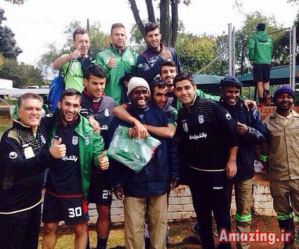 اینستاگرام, بازیکنان فوتبال, جام جهانی 2014,اردوی تیم ملی در افریقا,عکس اینستاگرام بازیکنان