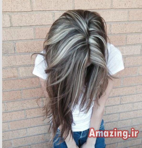 هایلایت مو,لولایت مو,مدل بافت مو,مدل بافت مو دخترانه, ایده رنگ مو