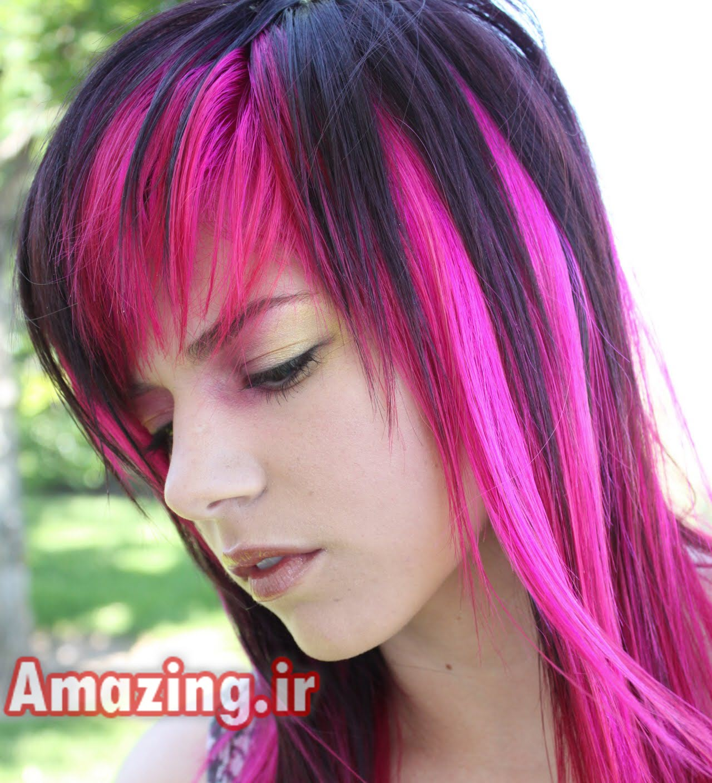 مدل مو,مدل رنگ مو,مدل رنگ مو دخترانه,مدل مو دخترانه,رنگ مو 2014 ,مدل رنگ مو فانتزی