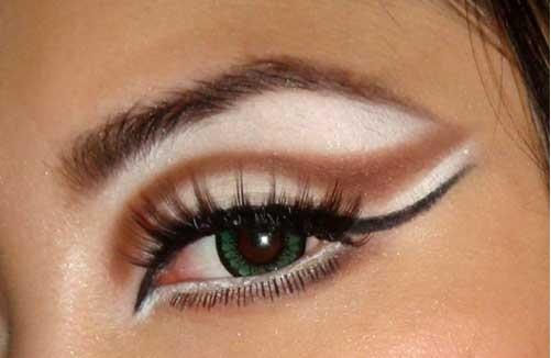 آموزش کشیدن خط چشم ,کشیدن خط چشم ,خط چشم گربه ایی ,مدل آرایش 2014