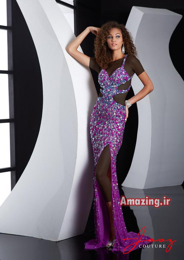 لباس مجلسی بلند,مدل لباس مجلسی مارک دار