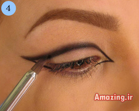 مدل سایه چشم , سایه چشم ,آموزش سایه چشم ,آموزش تصویری سایه چشم