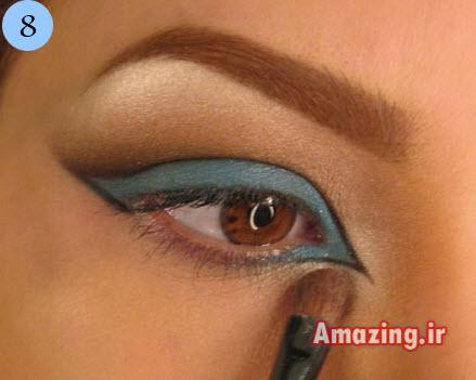 آموزش سایه زدن چشم ,مدل سایه چشم آبی, سایه چشم 2014, سایه چشم 93