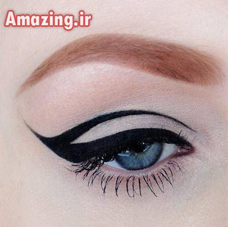 مدل خط چشم دخترانه,طرح خط چشم ,مدل خط چشم 93
