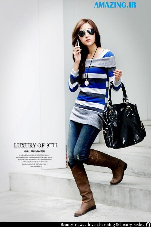 مدل پیراهن مجلسی, مدل پیراهن کره ایی,مدل شلوار لی کره ایی,مدل تونیک 2014,مدل لباس فشن