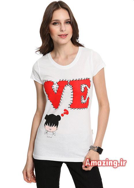 عکس تیشرت برای طراحی,طراحی تیشرت دخترانه