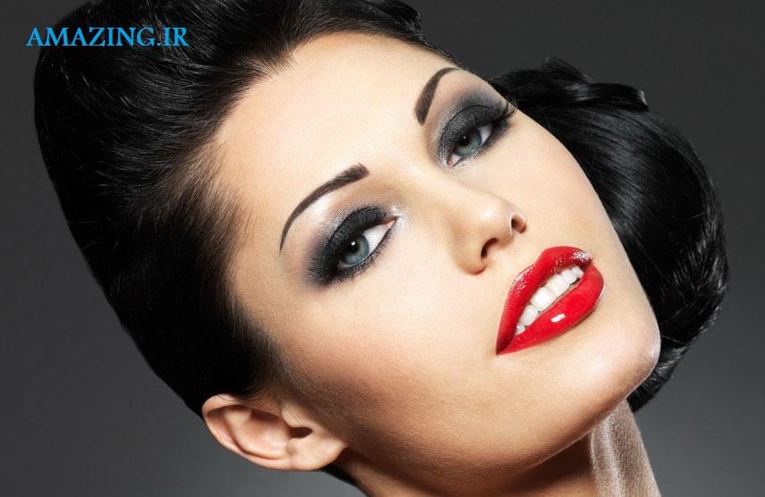 آرایش صورت جدید ,مدل آرایش صورت اروپایی ,
