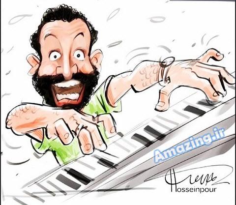 دی جی حسین فسنقری ,کاریکاتور دی جی حسین فسنقری