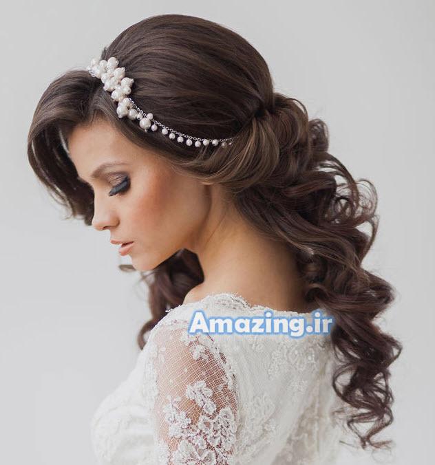 مدل بافت مو عروس, مدل شنیون عروس