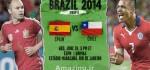 دانلود گل ها و نتیجه بازی اسپانیا و شیلی جام جهانی ۲۰۱۴ + عکس ها