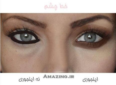 آموزش آرایش چشم , روش درست آرایش چشم , آرایش ابرو