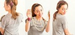آموزش تصویری مدل بستن مو به شکل دم اسبی + عکس