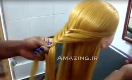 بافت مو , آموزش بافت مو , کلیپ بافت مو, مدل بافت مو