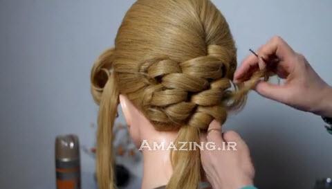 کلیپ آموزش بافتن مو عروس, شینیون عروس, کلیپ آموزش شینیون عروس
