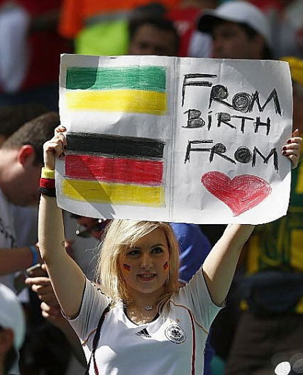 تماشاگران زن , تماشاگران جام جهانی 2014 , عکس تماشاگران دختر