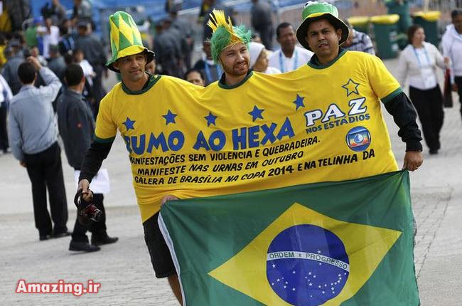 عکس های تماشاگران جام جهانی 2014 برزیل , تماشاچیان فوتبال در برزیل, عکس تماشاگران زن
