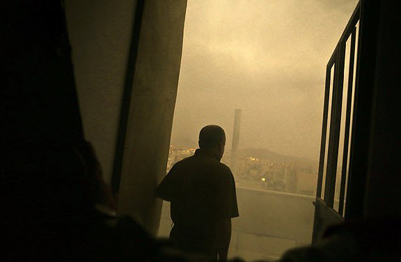 عکس طوفان دوم تهران , عکس شهر تهران ,  گرد و غبار تهران