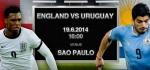 دانلود گل ها و نتیجه بازی انگلیس و اروگوئه جام جهانی ۲۰۱۴ + عکس ها