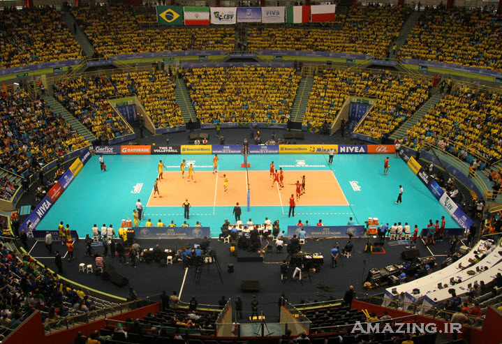 عکس های بازی والیبال ایران و برزیل , دانلود بازی ایران و برزیل