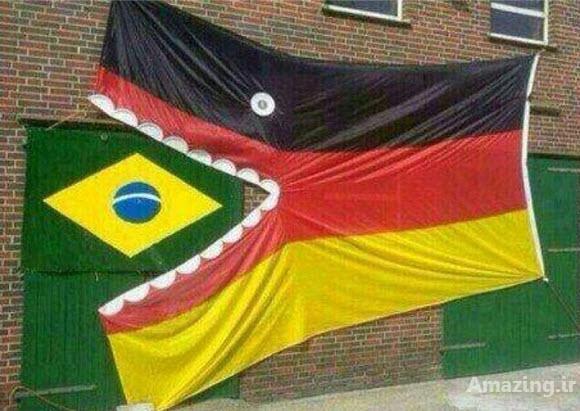 جوک شکست برزیل , عکس های خنده دار باخت برزیل