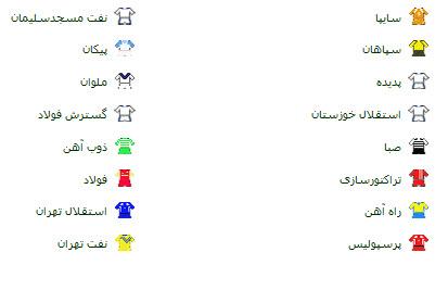 ساعت بازی های لیگ برتر جام خلیج فارس , برنامه لیگ برتر فصل 93 - 94