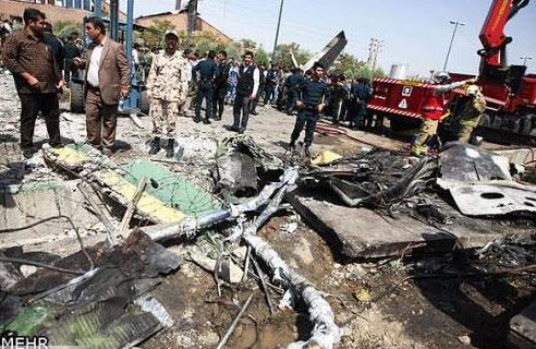 عکس علت سقوط هواپیما,  مرداد 93 , غرب تهران
