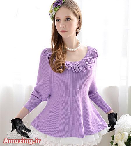 لباس بافتنی , مدل لباس بافتنی 2015