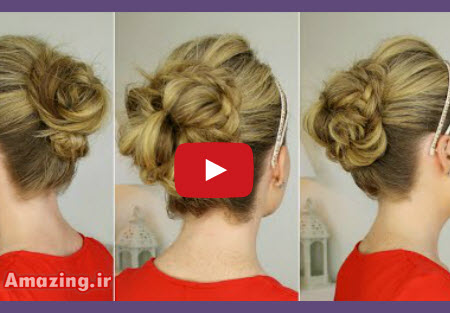 کلیپ بافت مو , آموزش بافت مو , بستن مو