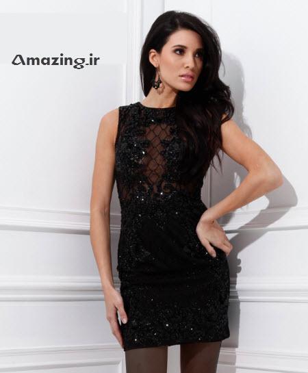 مدل لباس مجلسی , لباس مجلسی کوتاه , لباس گیپور
