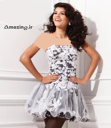 لباس مجلسی , لباس مجلسی کوتاه , لباس گیپور