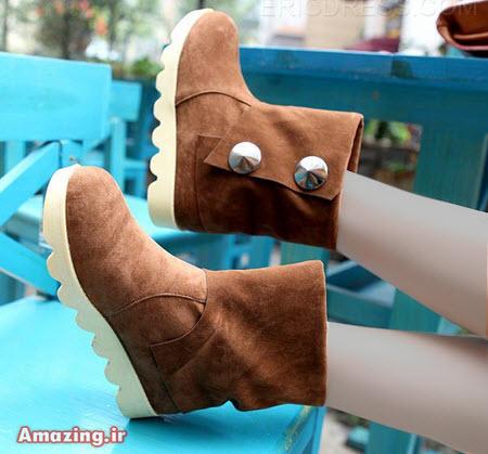 مدل بوت , مدل کفش زمستانی , نیم بوت دخترانه 2015