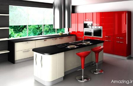 دکوراسیون آشپزخانه , مدل کابینت زیبا