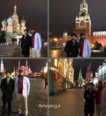 احسان علیخانى در مسکو , کلیپ احسان علیخانى در مسکو , فیلم احسان علیخانی و محمد سلوکی
