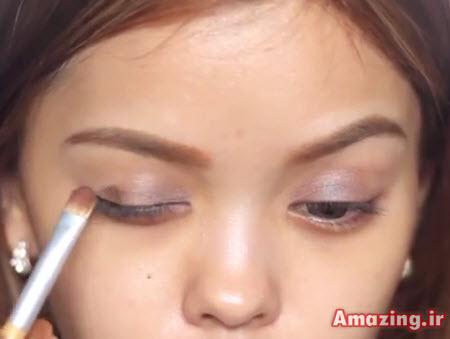 کلیپ آرایش چشم , آموزش آرایش صورت , فیلم میکاپ چشم