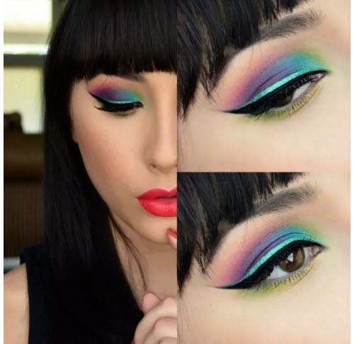 آرایش چشم دخترانه , مدل آرایش فانتزی برای چشم