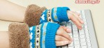 مدل دستکش بافتنی جدید و شیک دخترانه کره ایی سری یک