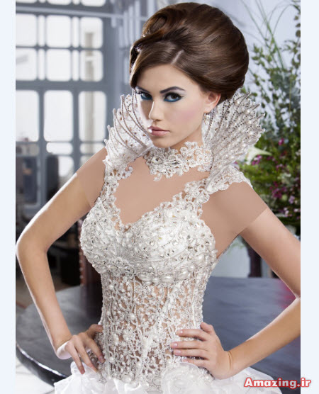 لباس عروس کارشده , مدل لباس عروس