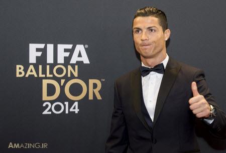 عکس مراسم توپ طلا 2014 , بهترین بازیکن 2014 جهان , رونالدو 2015 , مسی 2015