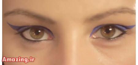 آموزش خط چشم , کلیپ کشیدن خط چشم , آموزش خط چشم زنانه, فیلم کشیدن خط چشم