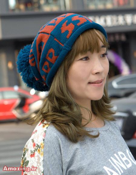 کلاه بافتنی دخترانه , مدل کلا بافتنی 2015 , کلاه بافتنی کره ایی
