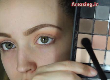 آموزش آرایش , کلیپ آموزش خود آرایی , آرایش 2015 , آموزش گریم صورت