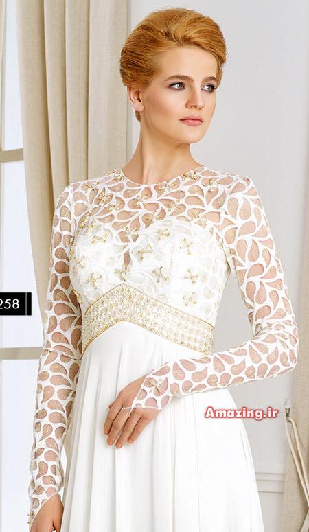 لباس مجلسی 94 , لباس مجلسی کنزل , مدل لباس مجلسی گیپور 2015