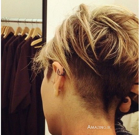 مدل مو کوتاه دخترانه 94 , مدل رنگ مو , شینیون موی زنانه 94