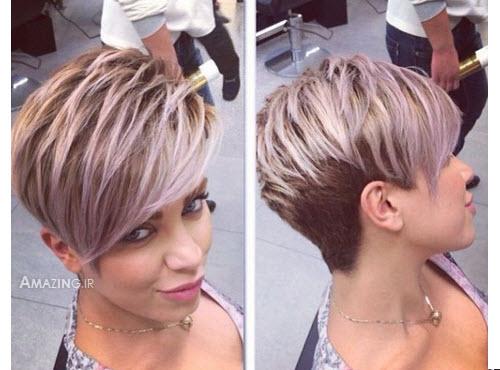 مدل مو کوتاه ,بافت مو 94 ,رنگ مو 94 ,شینیون مو 2015