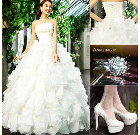 ست لباس عروس , لباس عروس شیک , مدل لباس عروس سال , ست کامل لباس عروس