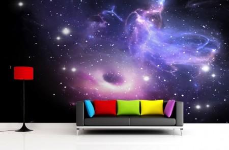 مدل دکوراسیون کهکشانی , مدل کاغذ دیواری کهکشانی , دکوراسیون سبک کهکشانی