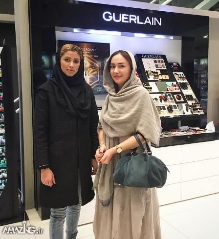 بازیگران زن ایرانی,عکس بازیگران زن ایرانی,بازیگران زن در فروشگاه آرایشی